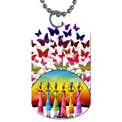 African Americn Art African American Women Dog Tag (one Side) by AlteredStates