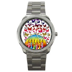 African Americn Art African American Women Sport Metal Watch by AlteredStates