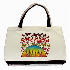African Americn Art African American Women Basic Tote Bag by AlteredStates