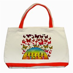 African Americn Art African American Women Classic Tote Bag (red) by AlteredStates