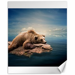 Bear Water Canvas 16  X 20  by AnjaniArt