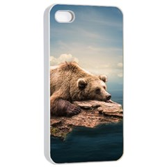 Bear Water Apple Iphone 4/4s Seamless Case (white) by AnjaniArt