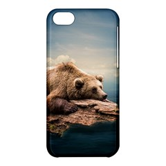 Bear Water Apple Iphone 5c Hardshell Case by AnjaniArt