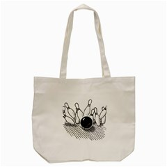 Bowling Ball Sport Tote Bag (cream) by AnjaniArt