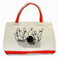 Bowling Ball Sport Classic Tote Bag (red) by AnjaniArt