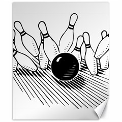 Bowling Ball Sport Canvas 16  X 20  by AnjaniArt
