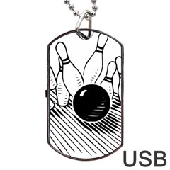 Bowling Ball Sport Dog Tag Usb Flash (two Sides) by AnjaniArt