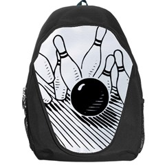 Bowling Ball Sport Backpack Bag by AnjaniArt