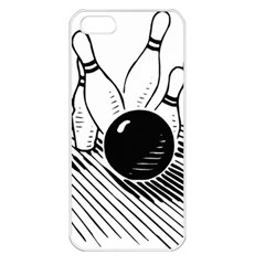 Bowling Ball Sport Apple Iphone 5 Seamless Case (white)