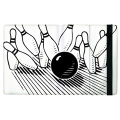 Bowling Ball Sport Apple Ipad 3/4 Flip Case by AnjaniArt