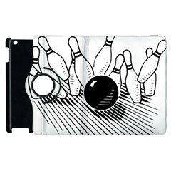 Bowling Ball Sport Apple Ipad 3/4 Flip 360 Case by AnjaniArt