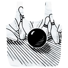Bowling Ball Sport Full Print Recycle Bag (xl) by AnjaniArt