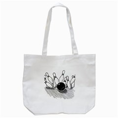 Bowling Ball Sport Tote Bag (white)