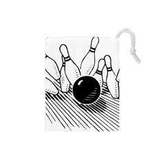 Bowling Ball Sport Drawstring Pouch (small) by AnjaniArt