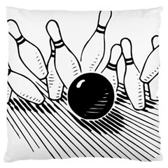 Bowling Ball Sport Standard Flano Cushion Case (one Side) by AnjaniArt