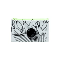 Bowling Ball Sport Cosmetic Bag (xs) by AnjaniArt