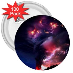 Volcano Lightning Wallpapers Flash Strom 3  Buttons (100 Pack)