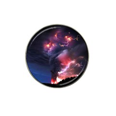 Volcano Lightning Wallpapers Flash Strom Hat Clip Ball Marker (10 Pack) by AnjaniArt