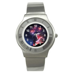 Volcano Lightning Wallpapers Flash Strom Stainless Steel Watch by AnjaniArt