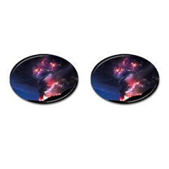 Volcano Lightning Wallpapers Flash Strom Cufflinks (oval) by AnjaniArt