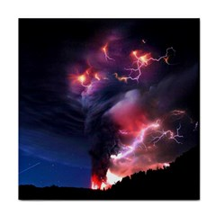Volcano Lightning Wallpapers Flash Strom Face Towel by AnjaniArt