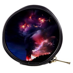 Volcano Lightning Wallpapers Flash Strom Mini Makeup Bag by AnjaniArt
