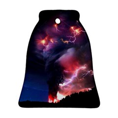Volcano Lightning Wallpapers Flash Strom Ornament (bell) by AnjaniArt