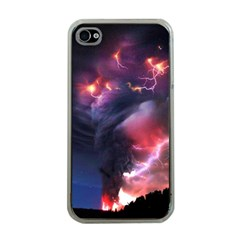 Volcano Lightning Wallpapers Flash Strom Apple Iphone 4 Case (clear)