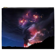 Volcano Lightning Wallpapers Flash Strom Cosmetic Bag (xxxl) by AnjaniArt