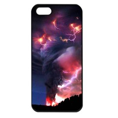Volcano Lightning Wallpapers Flash Strom Apple Iphone 5 Seamless Case (black) by AnjaniArt