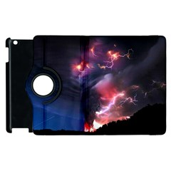 Volcano Lightning Wallpapers Flash Strom Apple Ipad 2 Flip 360 Case by AnjaniArt
