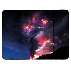 Volcano Lightning Wallpapers Flash Strom Samsung Galaxy Tab 7  P1000 Flip Case by AnjaniArt