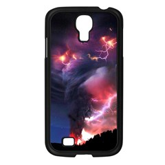 Volcano Lightning Wallpapers Flash Strom Samsung Galaxy S4 I9500/ I9505 Case (black) by AnjaniArt