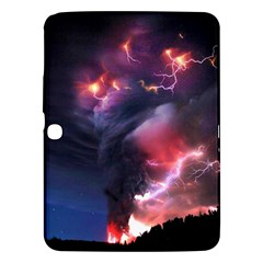 Volcano Lightning Wallpapers Flash Strom Samsung Galaxy Tab 3 (10 1 ) P5200 Hardshell Case  by AnjaniArt