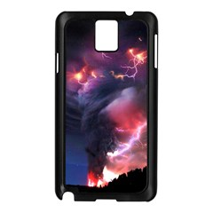 Volcano Lightning Wallpapers Flash Strom Samsung Galaxy Note 3 N9005 Case (black) by AnjaniArt