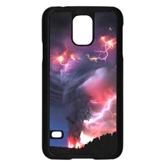 Volcano Lightning Wallpapers Flash Strom Samsung Galaxy S5 Case (black) by AnjaniArt