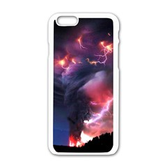 Volcano Lightning Wallpapers Flash Strom Apple Iphone 6/6s White Enamel Case by AnjaniArt