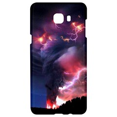 Volcano Lightning Wallpapers Flash Strom Samsung C9 Pro Hardshell Case  by AnjaniArt