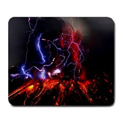 Volcanic Lightning Eruption Large Mousepads by AnjaniArt