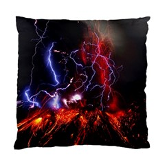 Volcanic Lightning Eruption Standard Cushion Case (two Sides)