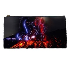 Volcanic Lightning Eruption Pencil Cases by AnjaniArt