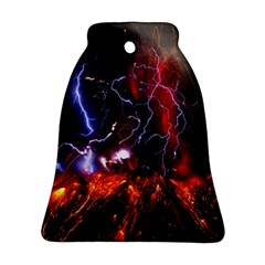 Volcanic Lightning Eruption Bell Ornament (two Sides) by AnjaniArt