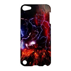 Volcanic Lightning Eruption Apple Ipod Touch 5 Hardshell Case by AnjaniArt