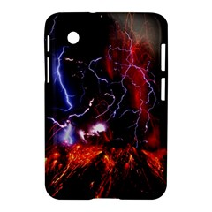 Volcanic Lightning Eruption Samsung Galaxy Tab 2 (7 ) P3100 Hardshell Case  by AnjaniArt
