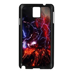 Volcanic Lightning Eruption Samsung Galaxy Note 3 N9005 Case (black) by AnjaniArt