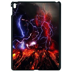 Volcanic Lightning Eruption Apple Ipad Pro 9 7   Black Seamless Case