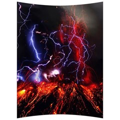 Volcanic Lightning Eruption Back Support Cushion by AnjaniArt