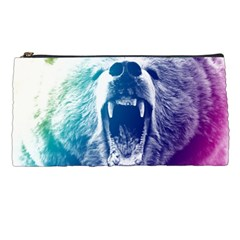Bear Grizzly Wallpaper Pencil Cases by AnjaniArt
