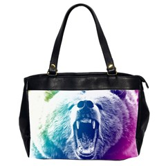 Bear Grizzly Wallpaper Oversize Office Handbag (2 Sides)