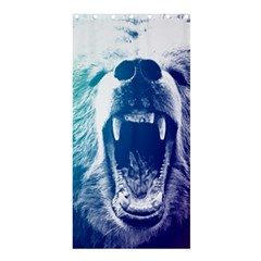 Bear Grizzly Wallpaper Shower Curtain 36  X 72  (stall)